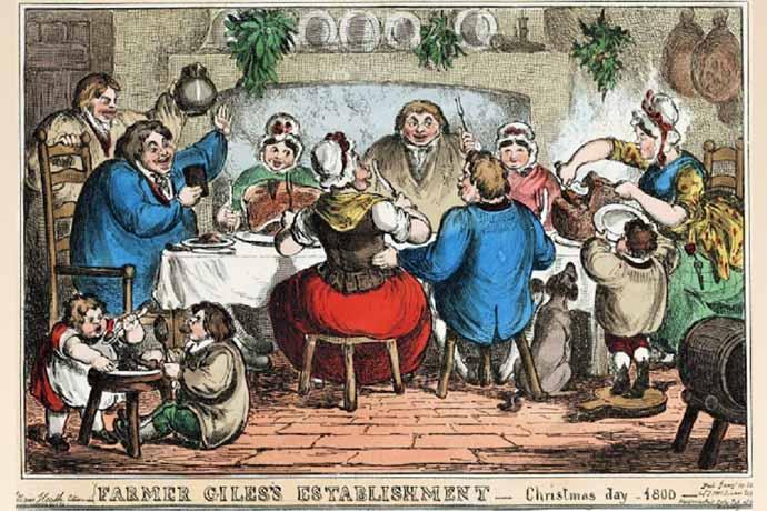 kerstmis rond 1800