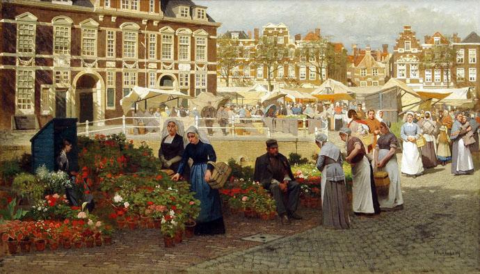 bloemenmarkt-den-haag-19e-eeuw