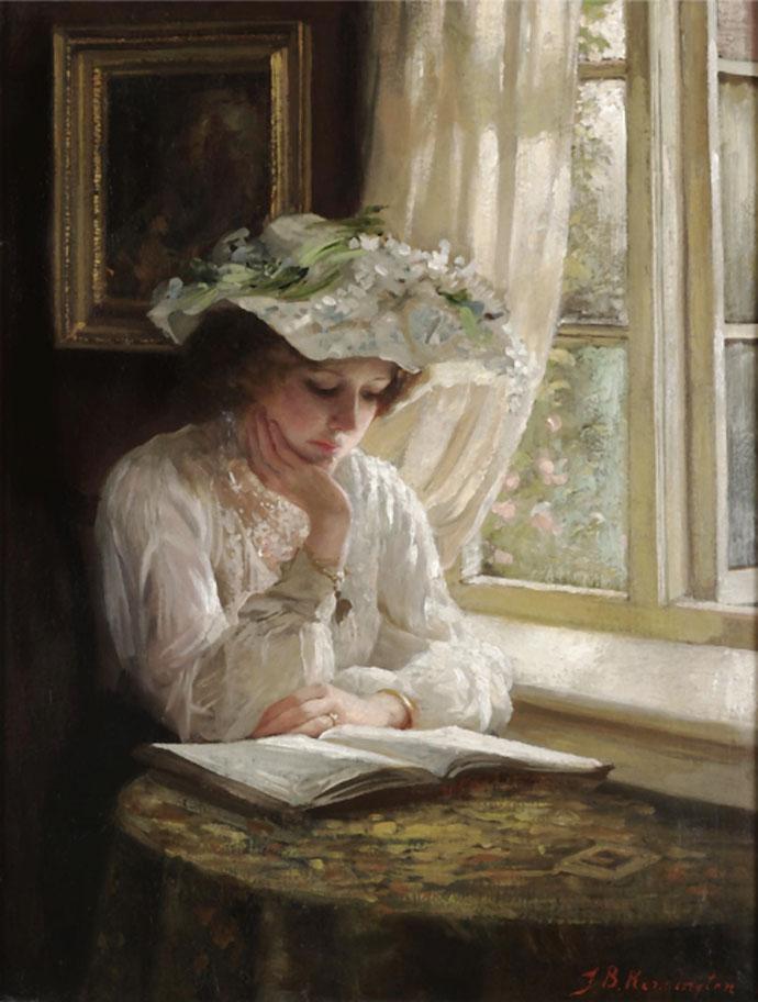 lezende-dame