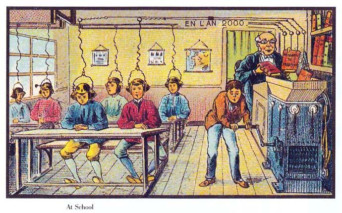school-21ste-eeuw-futuristisch