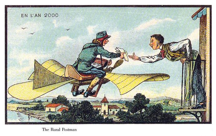 vliegende-postbode-21ste-eeuw-futuristisch