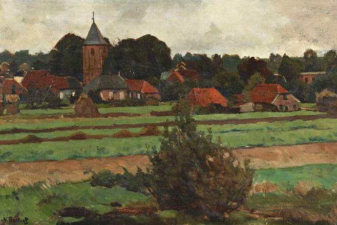Nederland-19e-eeuw-dorp