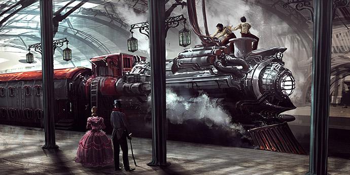 steampunk-trein