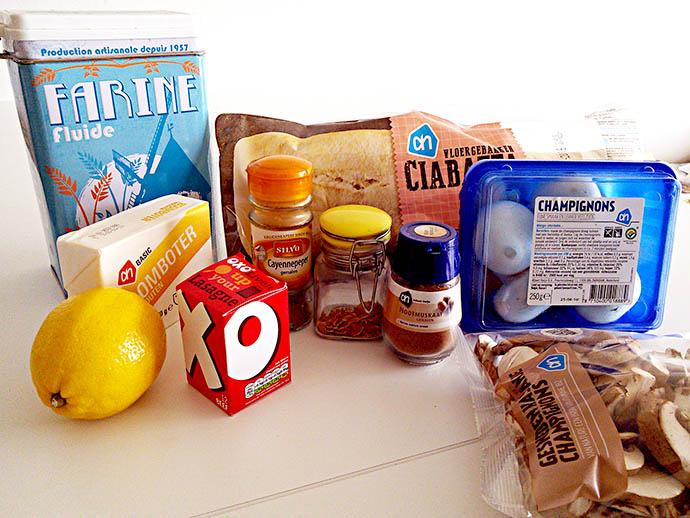 champignonbrood-ingrediënten