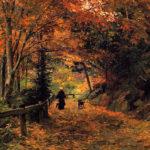 Victoriaanse nostalgische herfstplaatjes
