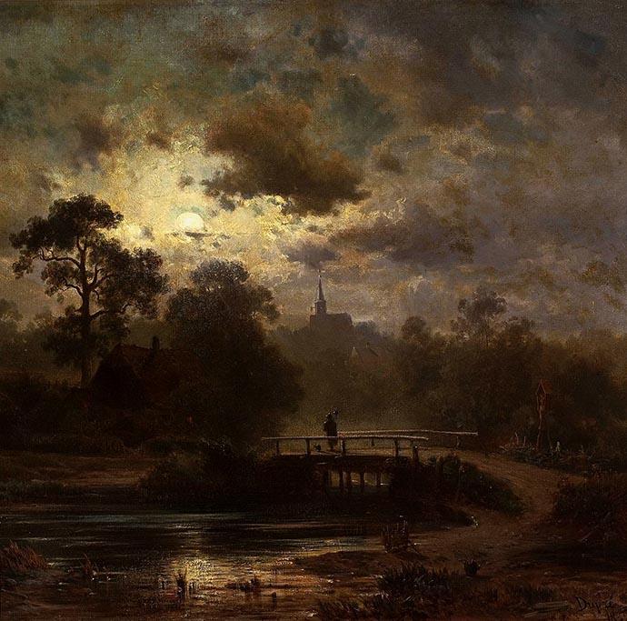 dupré-landschap-bij-maanlicht