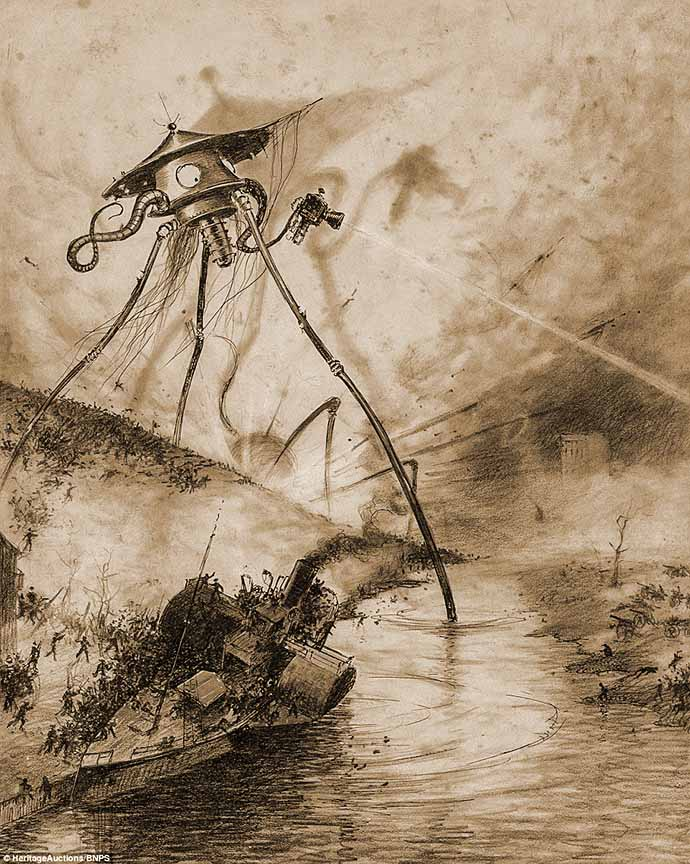 victoriaanse-science-fiction-war-worlds-tripod-thames