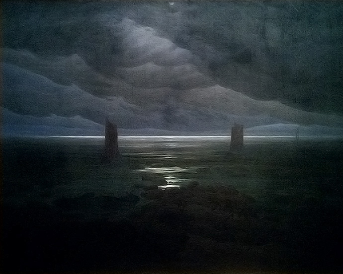 caspar-david-friedrich-kust-bij-maanlicht-1850