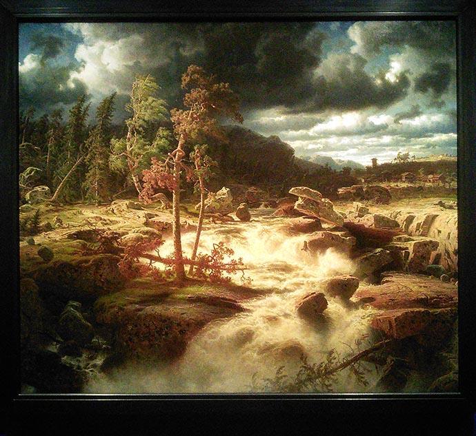 romantiek-marcus-larson-waterval-smalland-1856