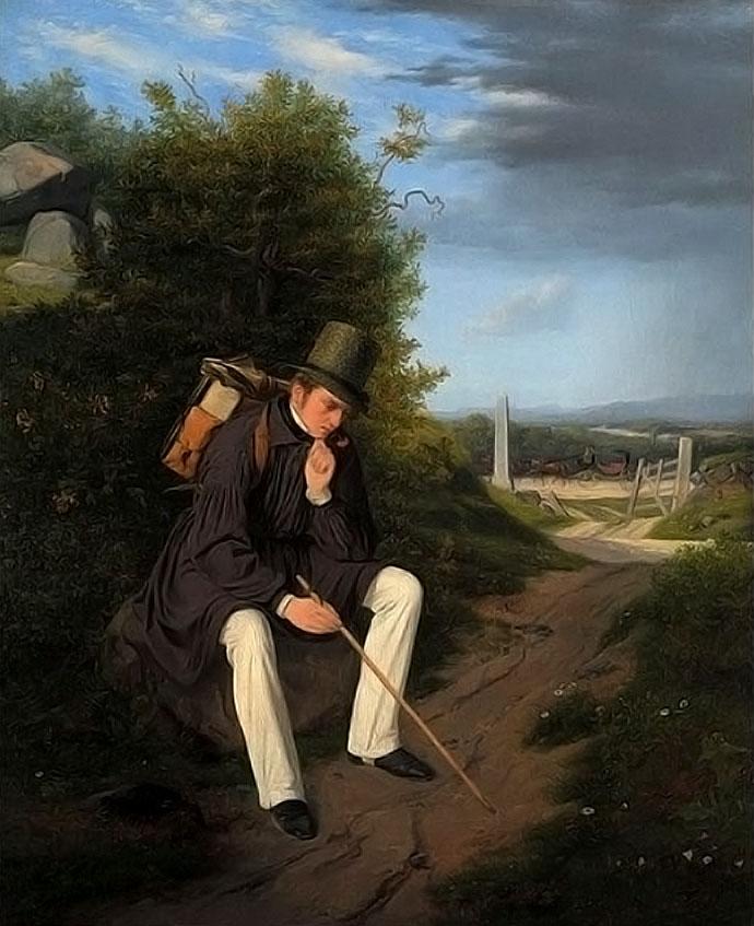 romantiek-jorgen-roed-kunstenaar-rustend-langs-de-kant-van-de-weg-1832