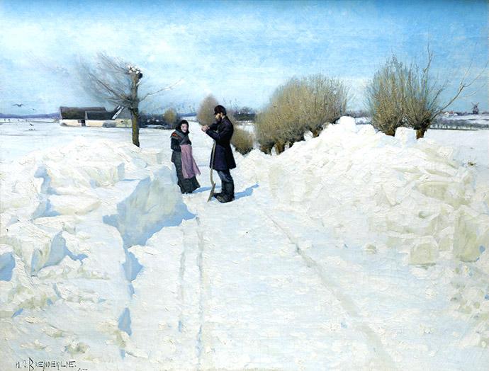 winter-19e-eeuw-brendekilde-der-holdes-et-hvil