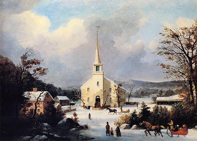 winter-19e-eeuw-going-to-church-durrie
