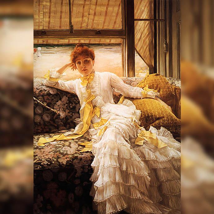 victoriaanse-vrouw-dame-tissot-seaside