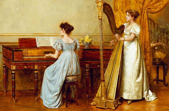 victoriaanse-vrouw-music-room-kilburne