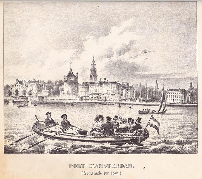 Haven van Amsterdam gravure