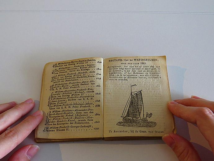 Enkhuizer Almanak 1845 watergetijden
