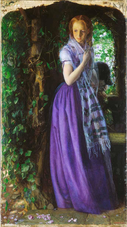 Schilderij Liefde in April door Arthur Hughes