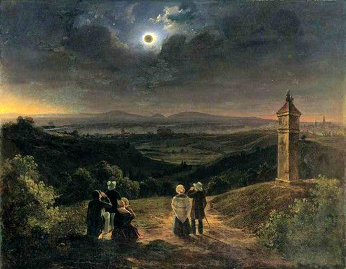 zonsverduistering 8 juli 1842 Jacob Alt