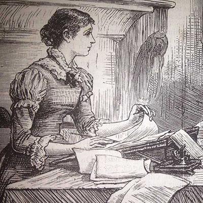 schrijvende-vrouw-19e-eeuw