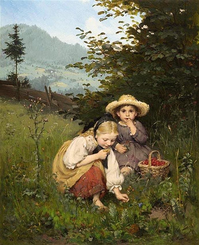 wilhelm-schuttze-kinderen-natuur-bessen-plukken