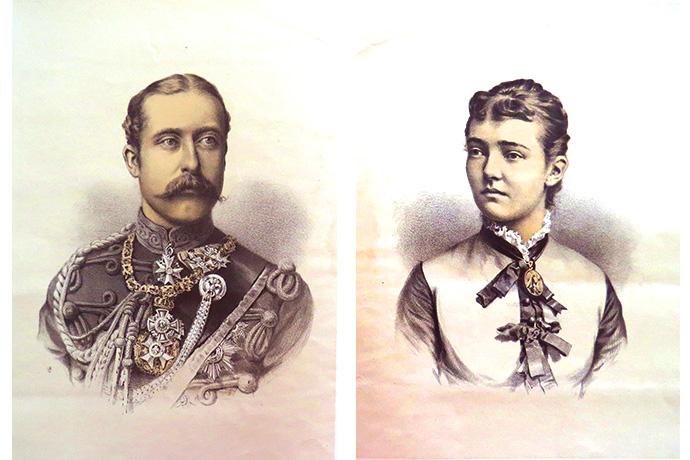 Prins Arthur Hertog van Connaught Prinses Louise