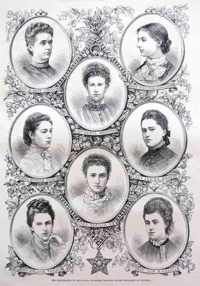 buidsmeisjes van Prinses Louise