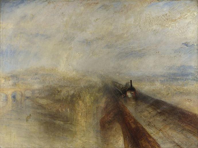 schilderij van stoomtrein door turner