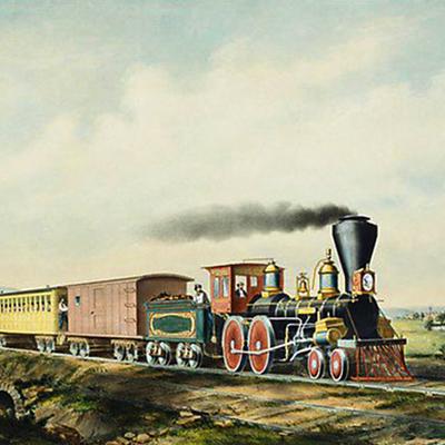 victoriaanse stoomtrein