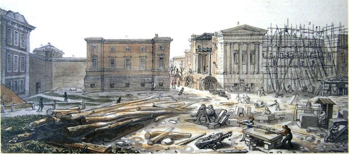 De uitbreiding van het British Museum in de jaren 1850