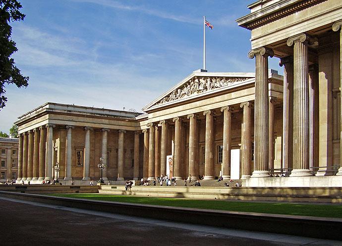 Voorzijde van het British Museum