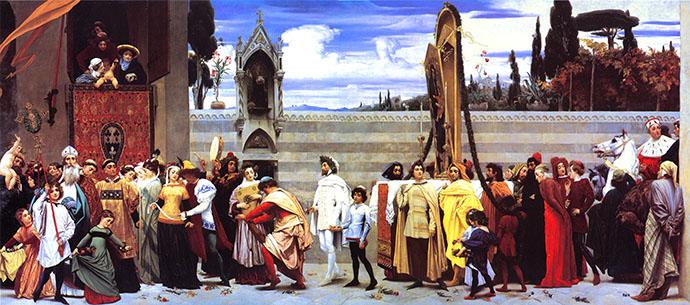 Frederic Leighton Cimabues gevierde Madonna (1855)