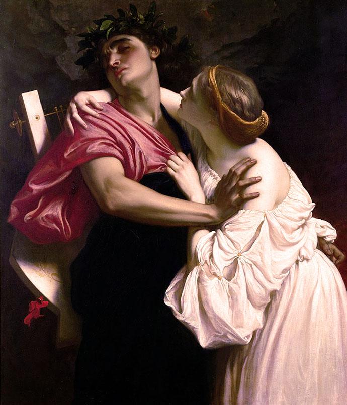 Frederic Leighton Orpheus en Eurydice 1864
