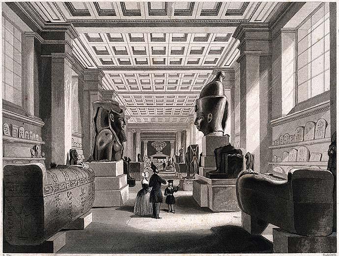 Het British Museum in de 19e eeuw