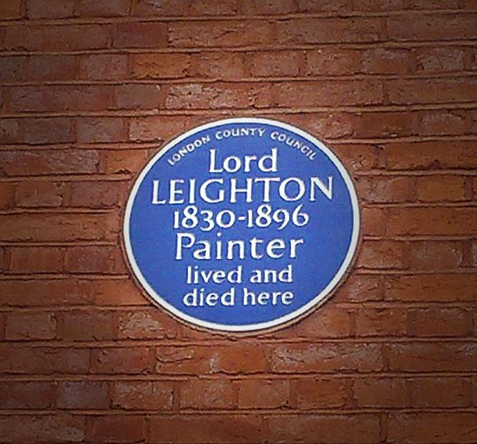 Leighton House Museum monument bordje