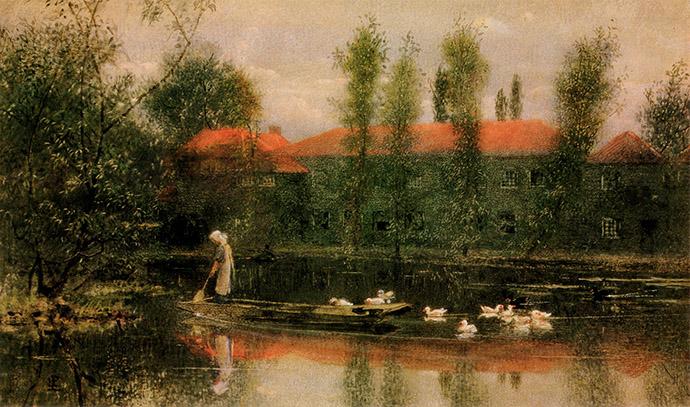 William Morris Pocock Pond Merton Abbey