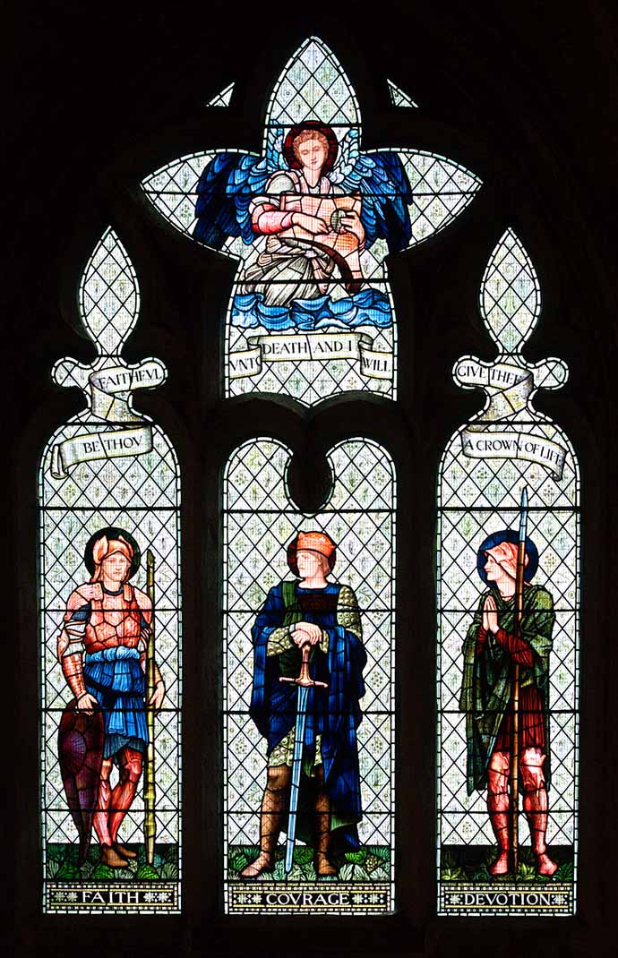 William Morris glas in lood Malmesbury Abbey