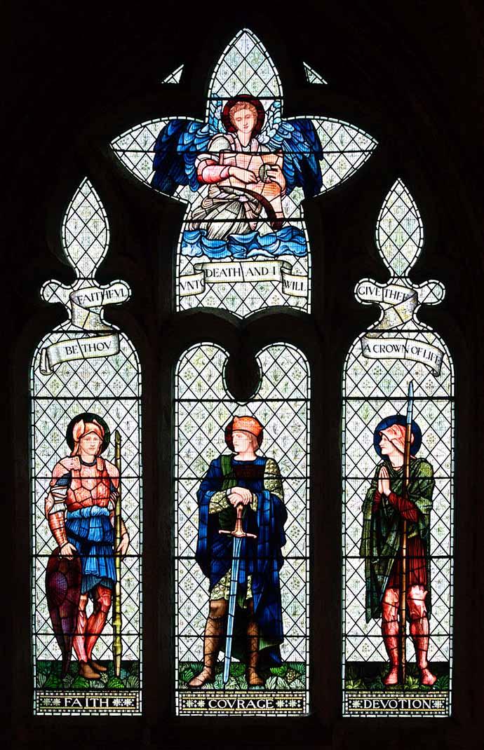 William Morris glas in lood Malmesbury Abbey