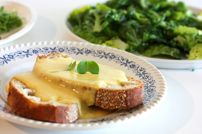 catherine dickens toasted cheese met salade
