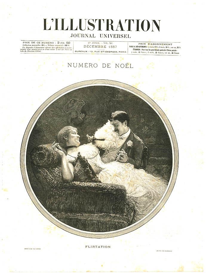 krant l'illustration journal universel flirtations