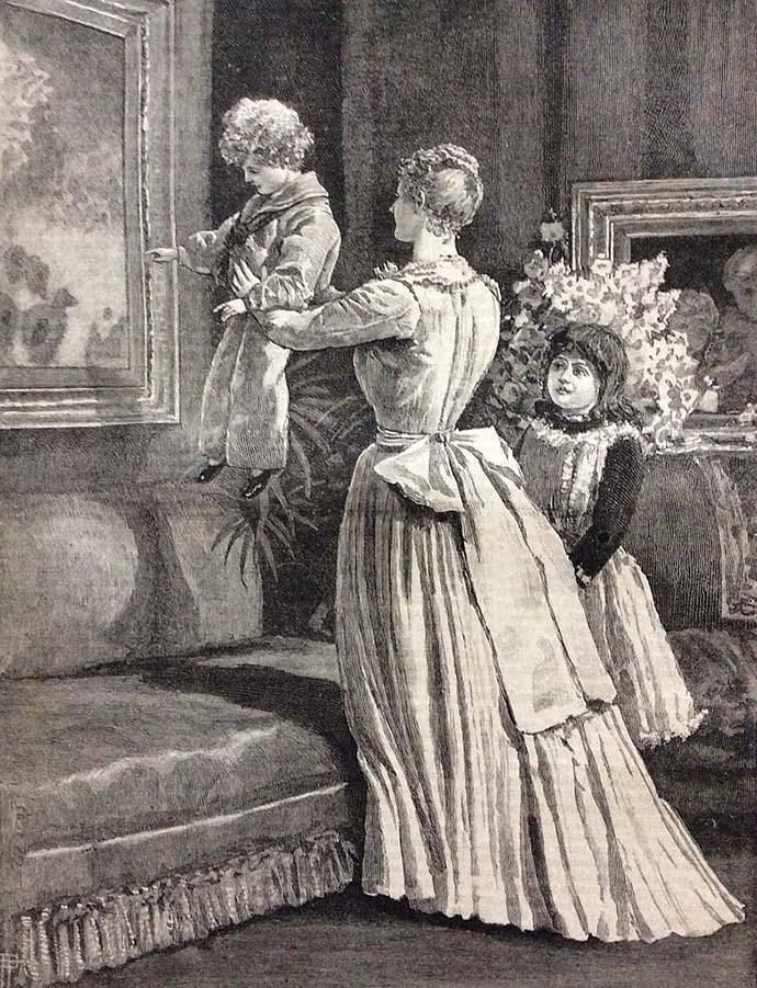 victoriaanse moeder met kind