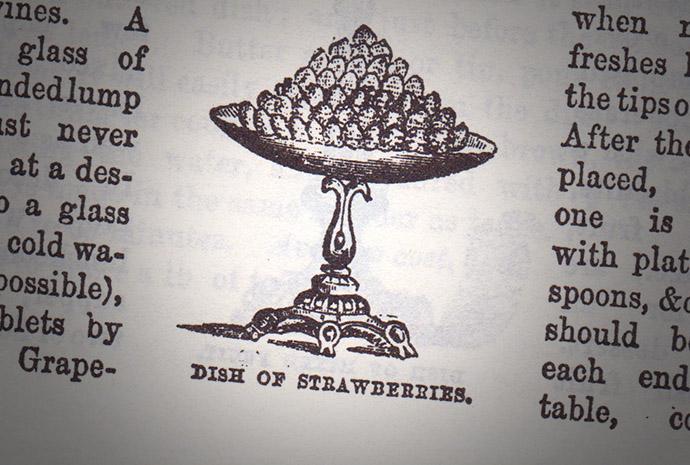 Dish Of Strawberries Mrs Beeton