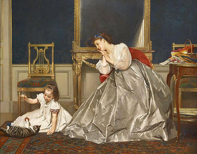Game Time (Divertissement) door Gustave de Jonghe