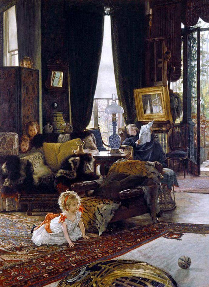 Hide and Seek door James Tissot (1877)