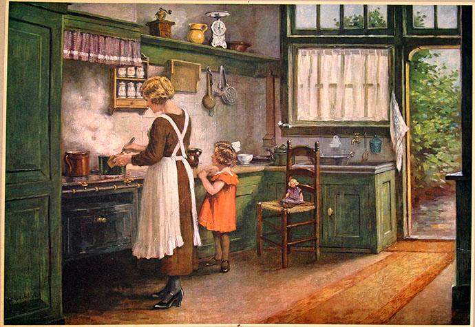 Schoolplaat in de keuken