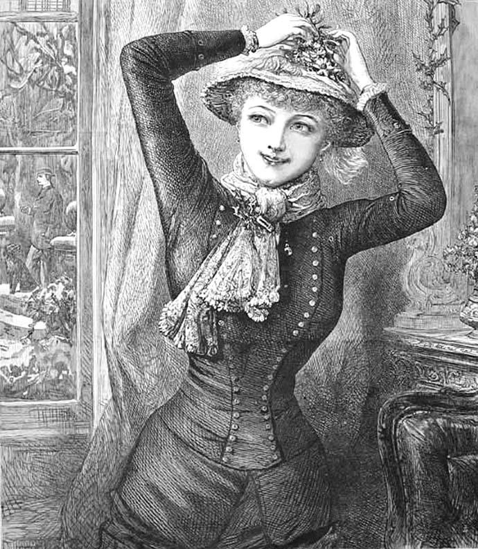 vrouw jurk 1880s
