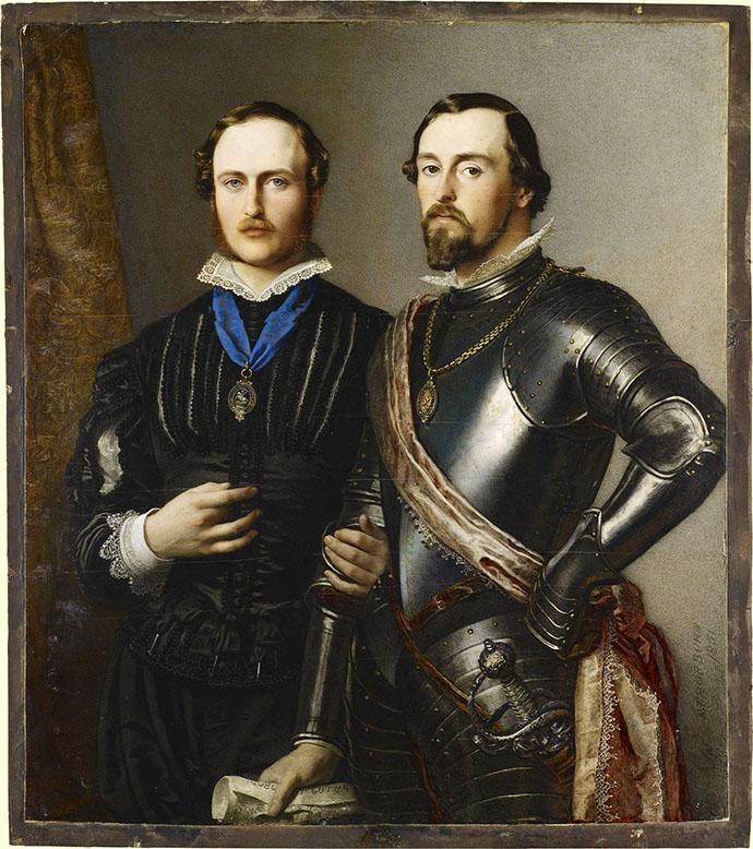 Ernst en Albert van Saksen-Coburg