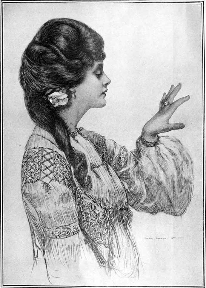 vrouw met trouwring 19e eeuw