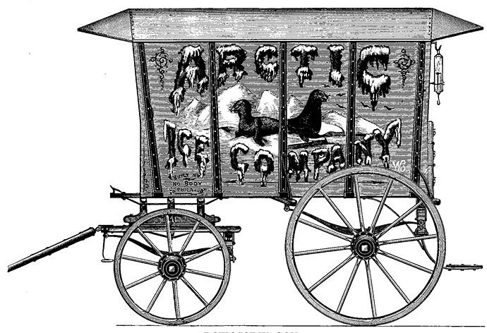 Arctic Ice Company ijswagen 1884