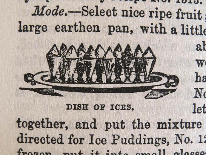 Dish Of Ices Victoriaans Ijs serveren