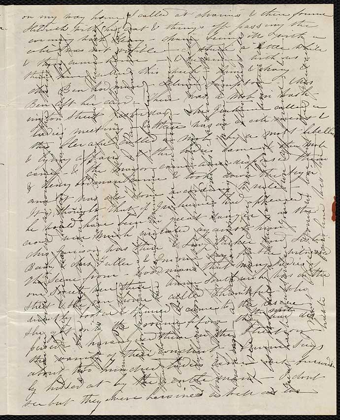 brief cross written cross lines